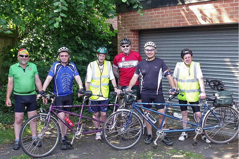 Six intrepid members assembled at the VISTA garage before starting out